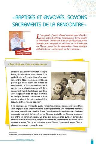 Page 21 of Baptisés, envoyés, soyons sacrements de la rencontre