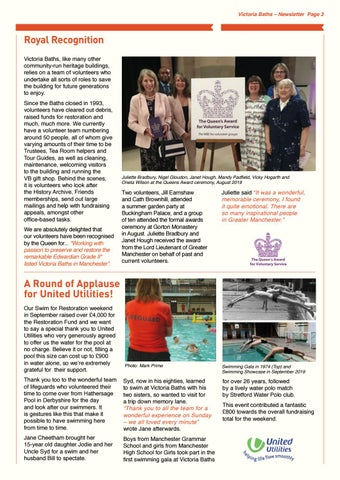 Page 3 of Queens Award for Volunteering for Victoria Baths
