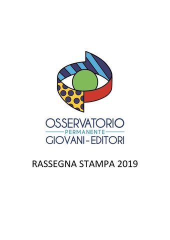 Rassegna Stampa 2019 Al 14 Novembre By Osservatorio