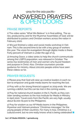 Page 12 of =ANSWERED PRAYERS & OPEN DOORS -pray for the asia pacific-