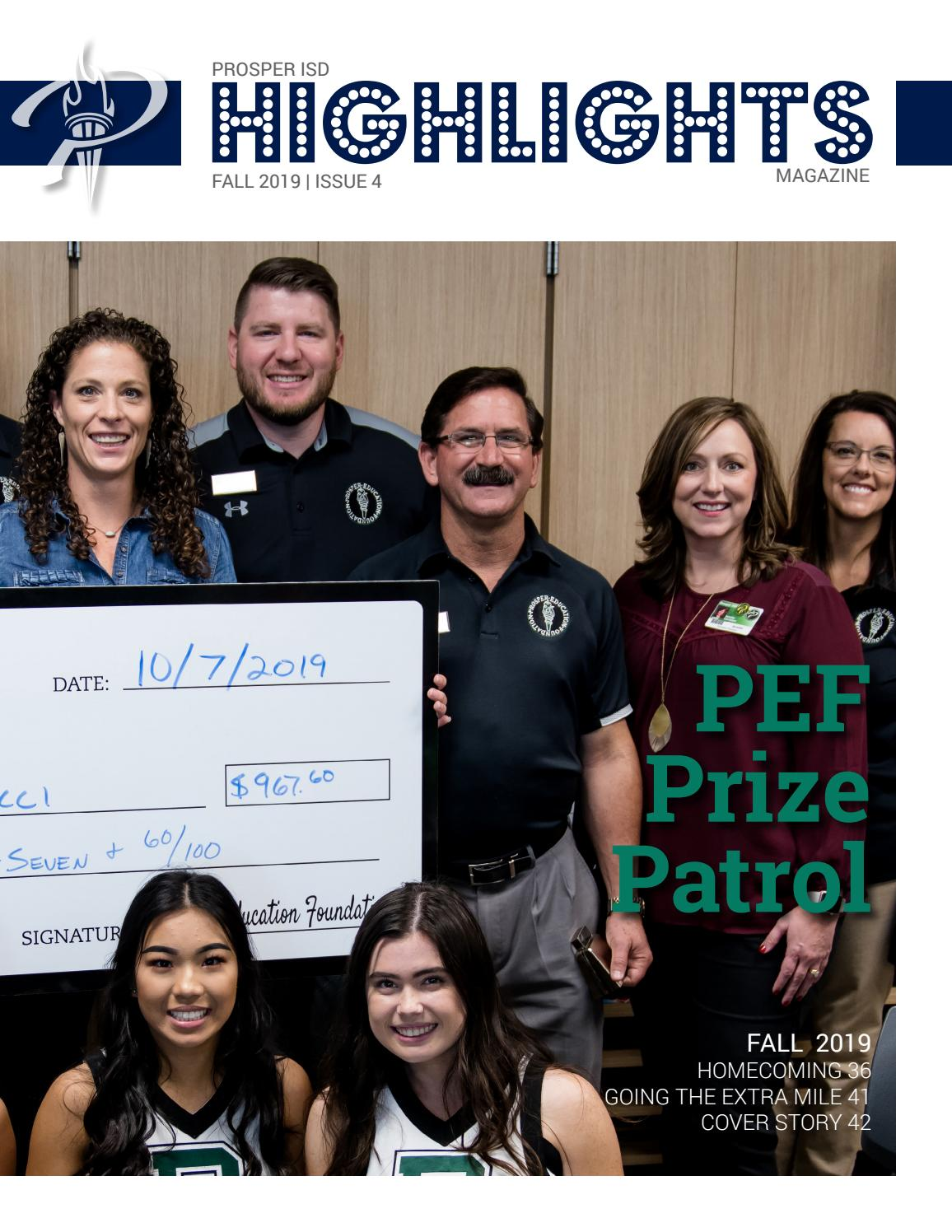 Highlights Magazine Fall 2019 By Prosper Independent School District Issuu
