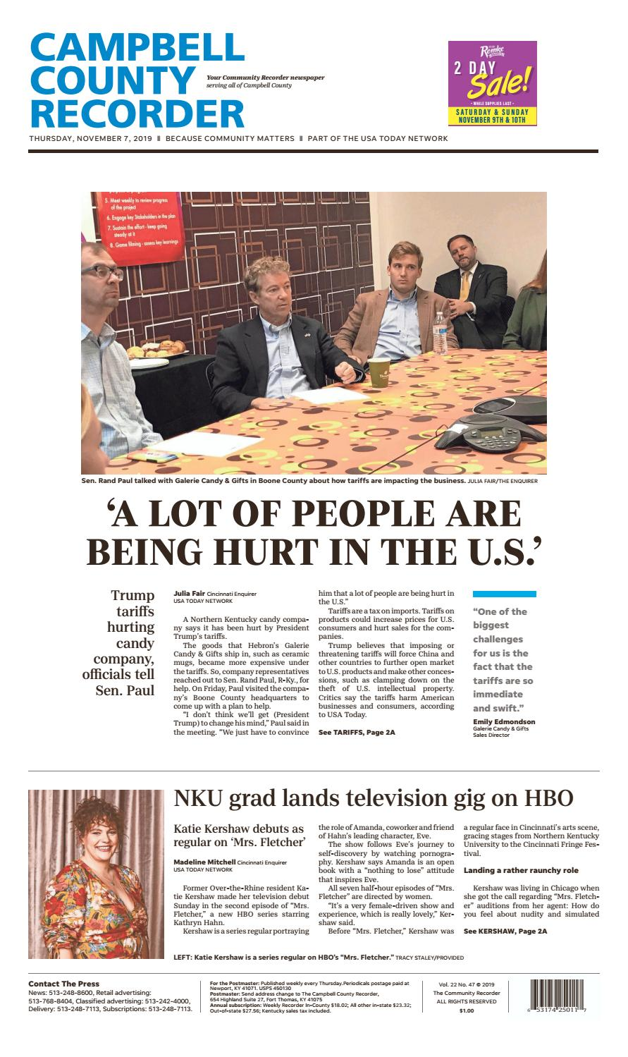Campbell County Recorder 11 07 19 By Enquirer Media Issuu