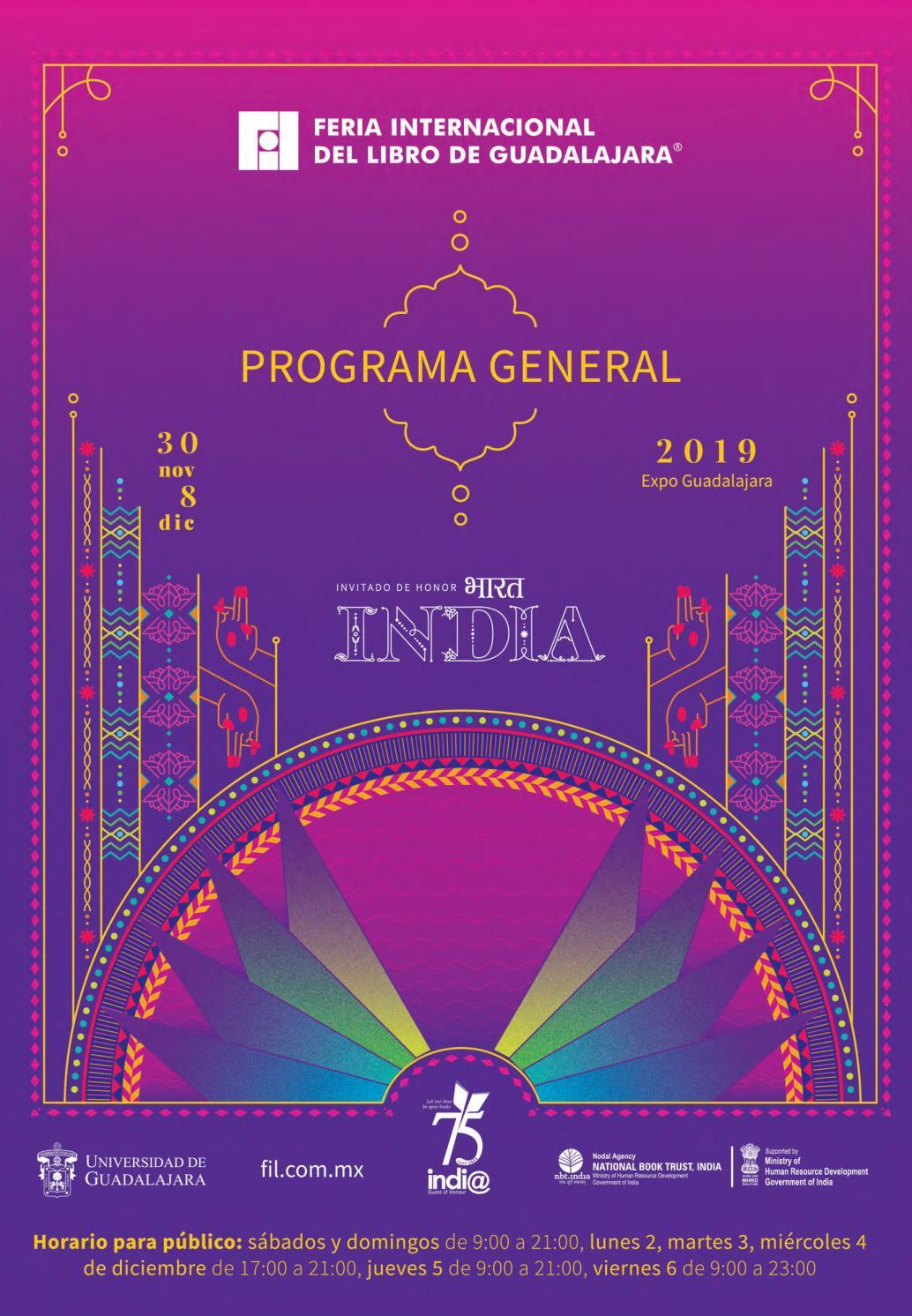 Programa De Mano Fil 2019 By Feria Internacional Del Libro De Guadalajara Fil Issuu