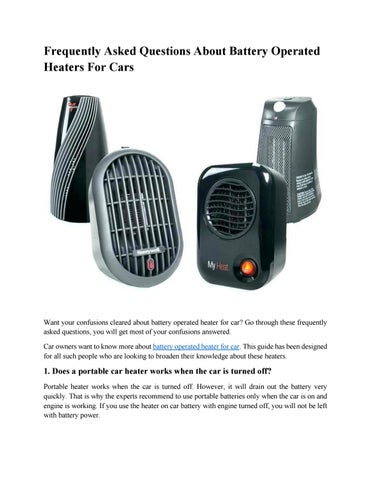 Frequently Asked Questions About Battery Operated Heaters For Cars