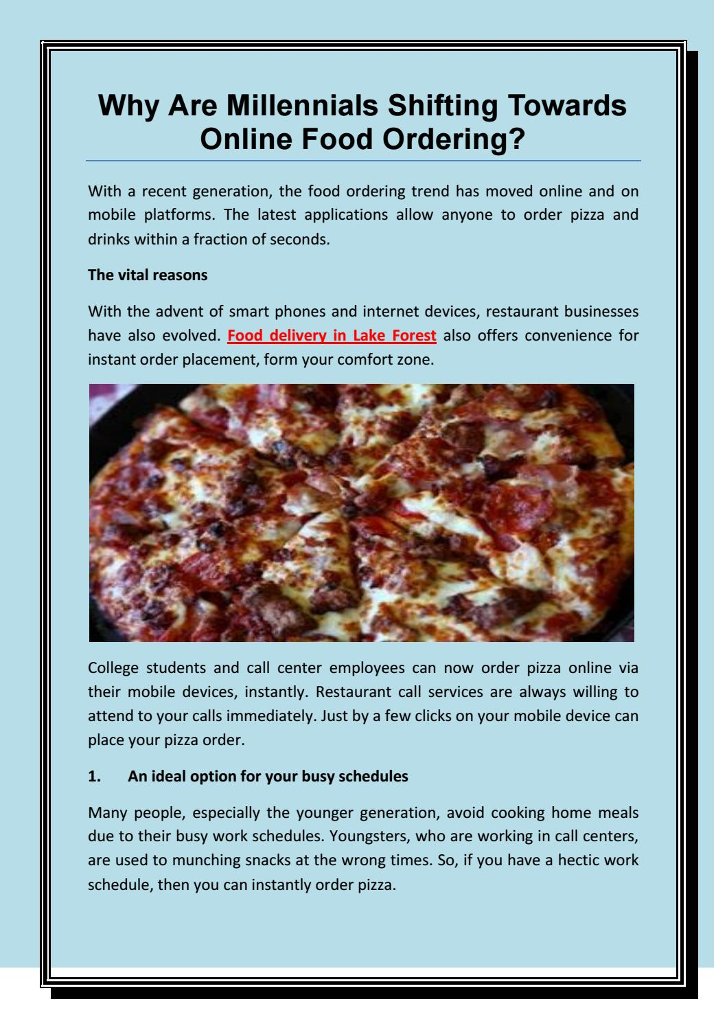 Why Are Millennials Shifting Towards Online Food Ordering By Helenanelson Issuu