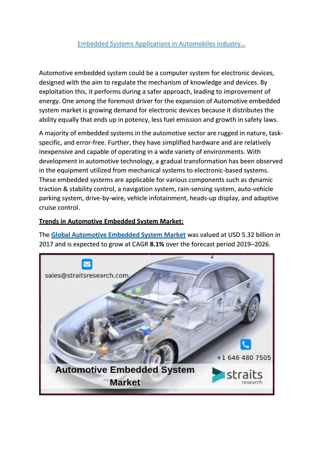 Automotive Embedded System Market By Kiranaggarwal110695 Issuu