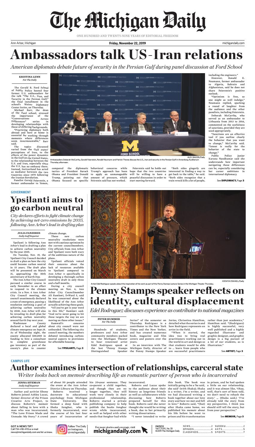 2019 11 22 By The Michigan Daily Issuu