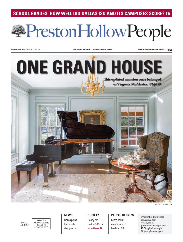 Preston Hollow People November 2019 by People Newspapers - issuu