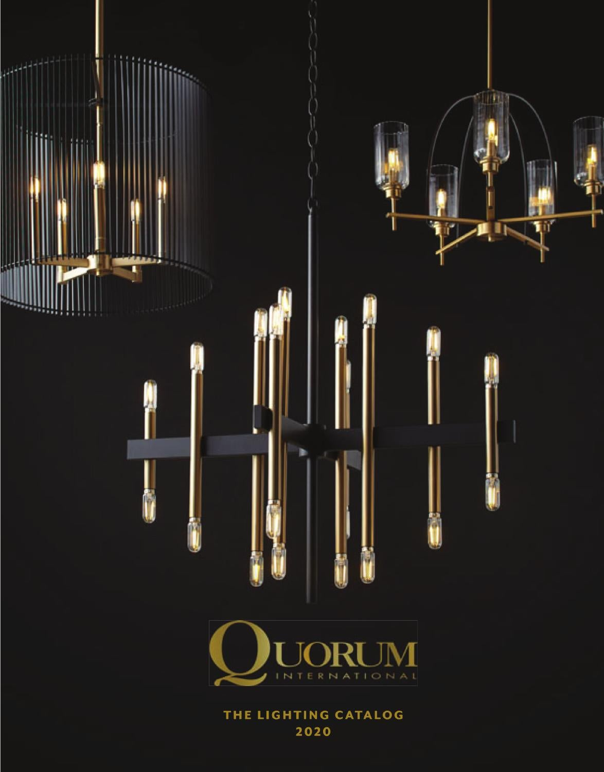 Quorum 80-12-80 Pendant 1-Light 60 Watts Aged Brass