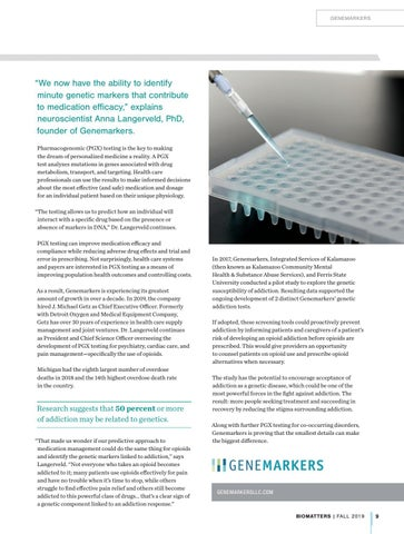 Page 11 of Genemarkers: A Small Michigan Company with the Smallest of Plans