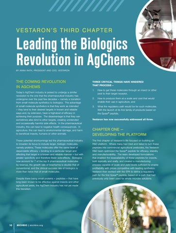 Page 12 of Vestaron: Leading the BioLogics Revolution in AgChem