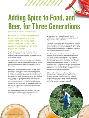 Page 14 of Kalsec: Adding Spice to Food, and Beer, for Three Generations
