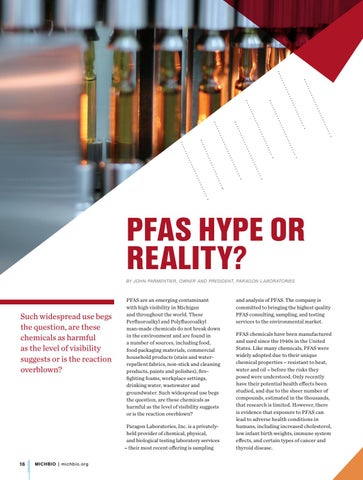 "Page 18 of Paragon Lab"" PFAS, Hype or Reality?"