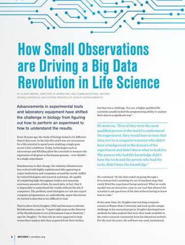 Page 8 of Advaita Bioinformatics: Using Small Observations to Drive a Big Data Revolution