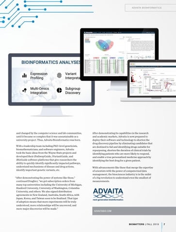Page 9 of Advaita Bioinformatics: Using Small Observations to Drive a Big Data Revolution
