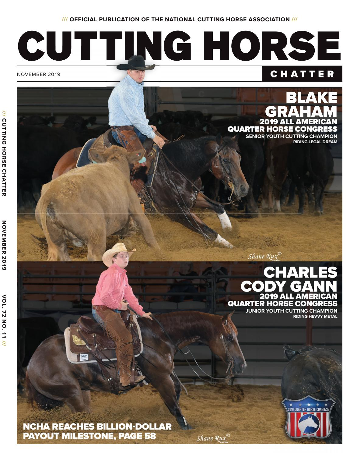 Cutting By Chatter Horse 2019 Cowboy Ncha November n0wO8mvN