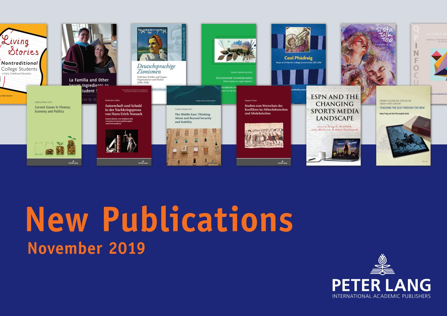 November New Titles By Peter Lang Publishing Group Issuu
