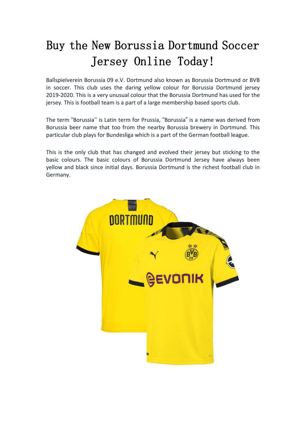 Buy The New Borussia Dortmund Soccer Jersey Online Today By Joseph E Keller Issuu