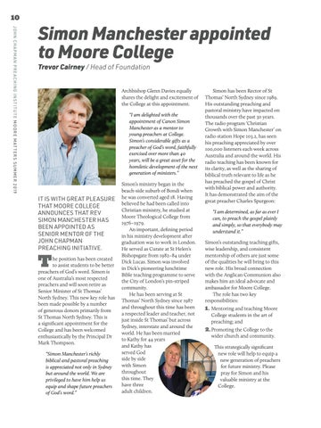 Page 10 of Simon Manchester appointed to Moore College