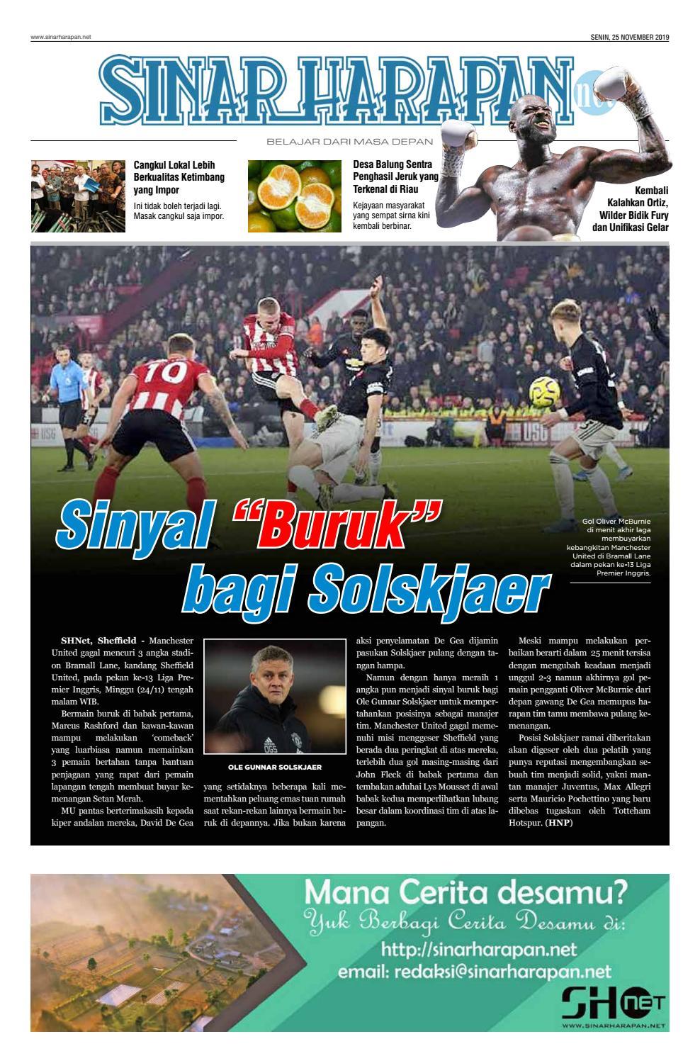 SINARHARAPANNET Daily 25 NOV 19 By Sinarharapannet Issuu