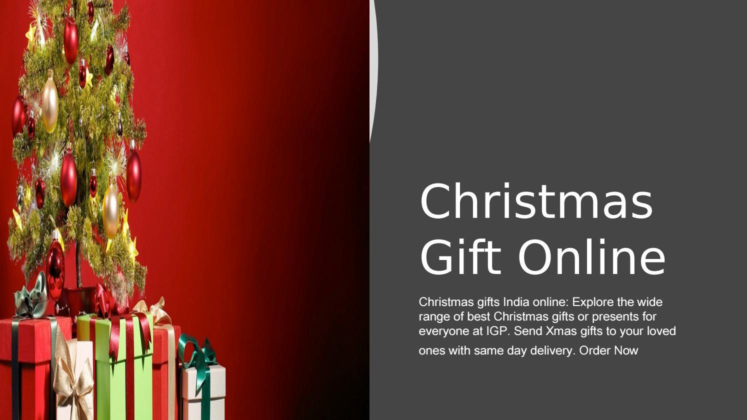 Christmas Gift Online By Aahnaahuja0 Issuu