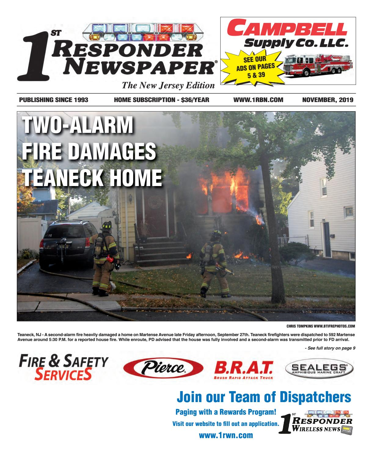 1st Responder News New Jersey November Edition By Belsito Communications Inc Issuu