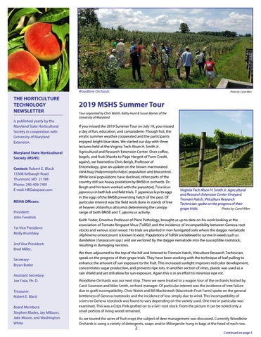 Page 2 of 2019 MSHS Summer Tour Highlights