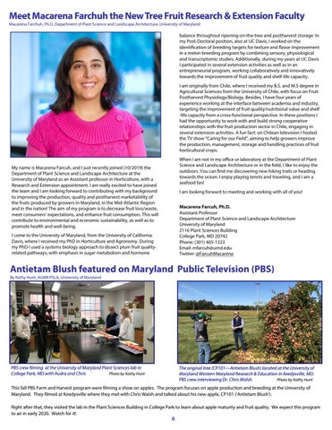 Page 6 of Meet Macarena Farchuh the New Tree Fruit Research & Extension Faculty