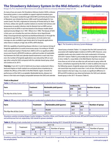Page 7 of The Strawberry Advisory System in the Mid-Atlantic: a Final Update
