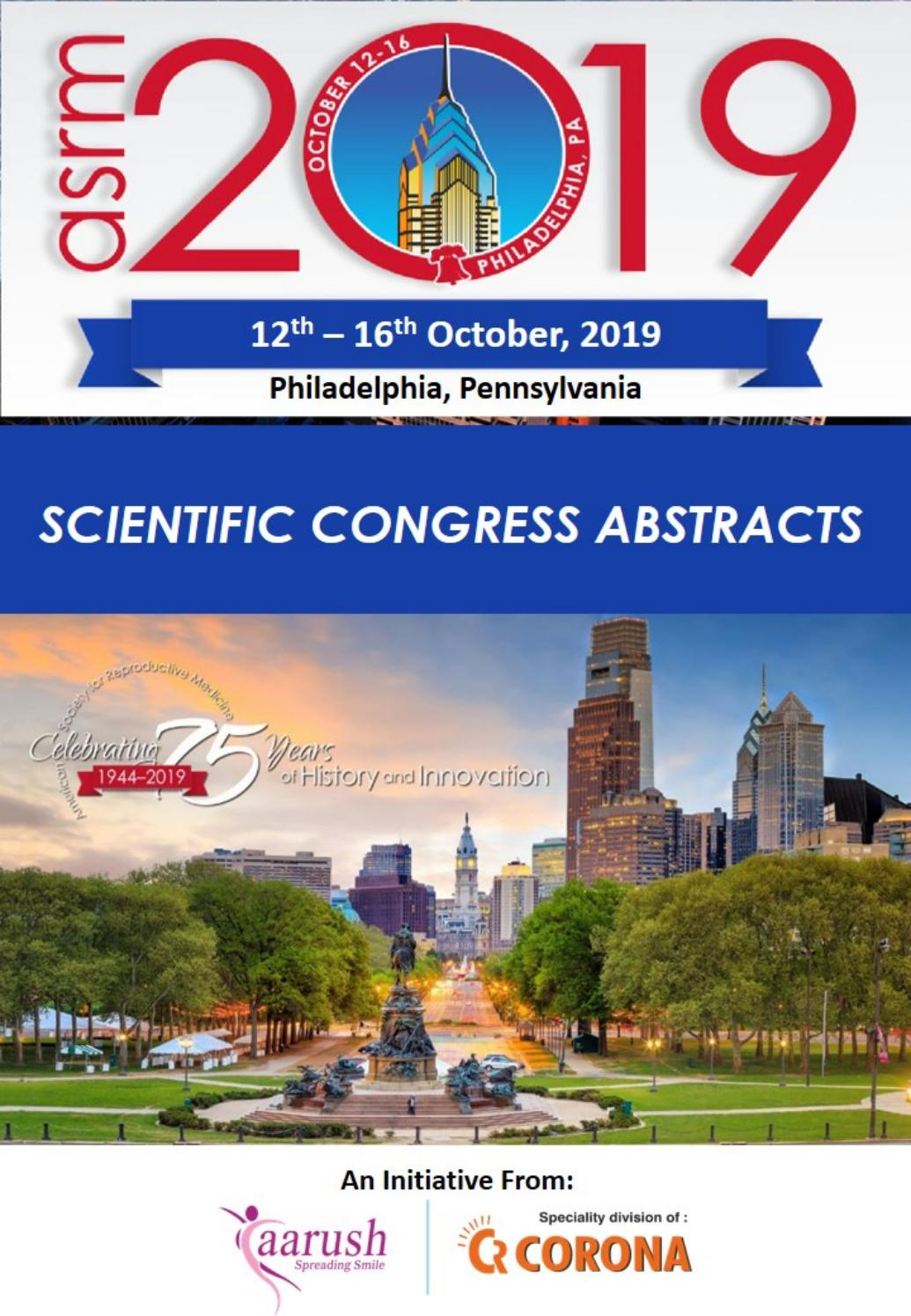 Asrm 2019 Abstracts By Vasu Issuu