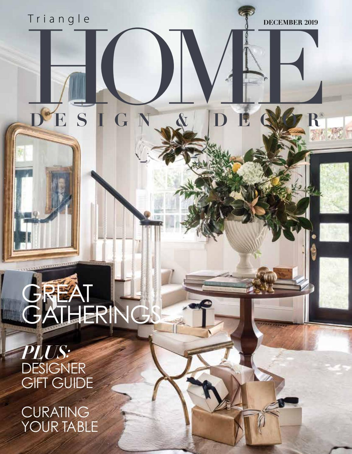 Triangle December 2019 By Home Design Decor Magazine Issuu