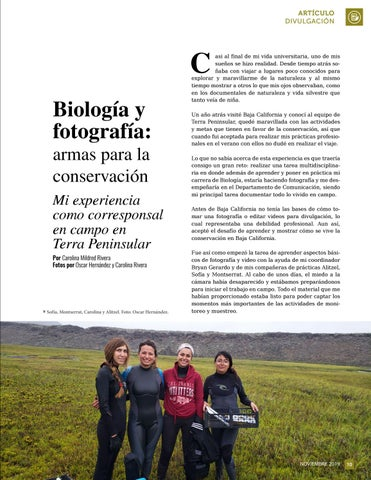 Page 11 of Biología y fotografía: armas para la conservación