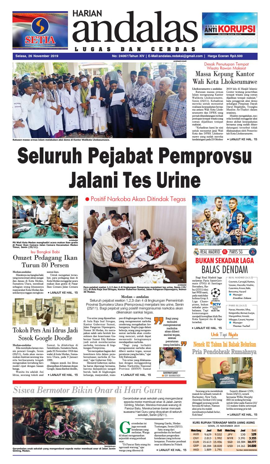 Epaper Harian Andalas 26 November 2019 By Media Andalas Issuu