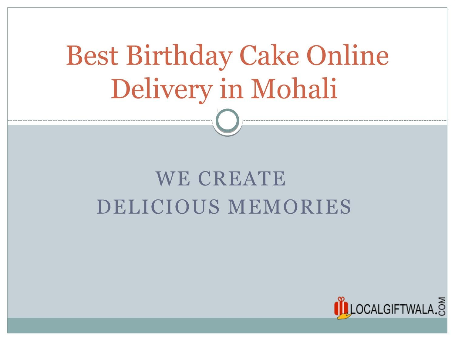Surprising Best Birthday Cake Online Delivery In Mohali By Local Twala Issuu Personalised Birthday Cards Paralily Jamesorg
