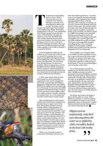 Page 45 of DISPATCH: A HIDDEN GEM IN MALAWI