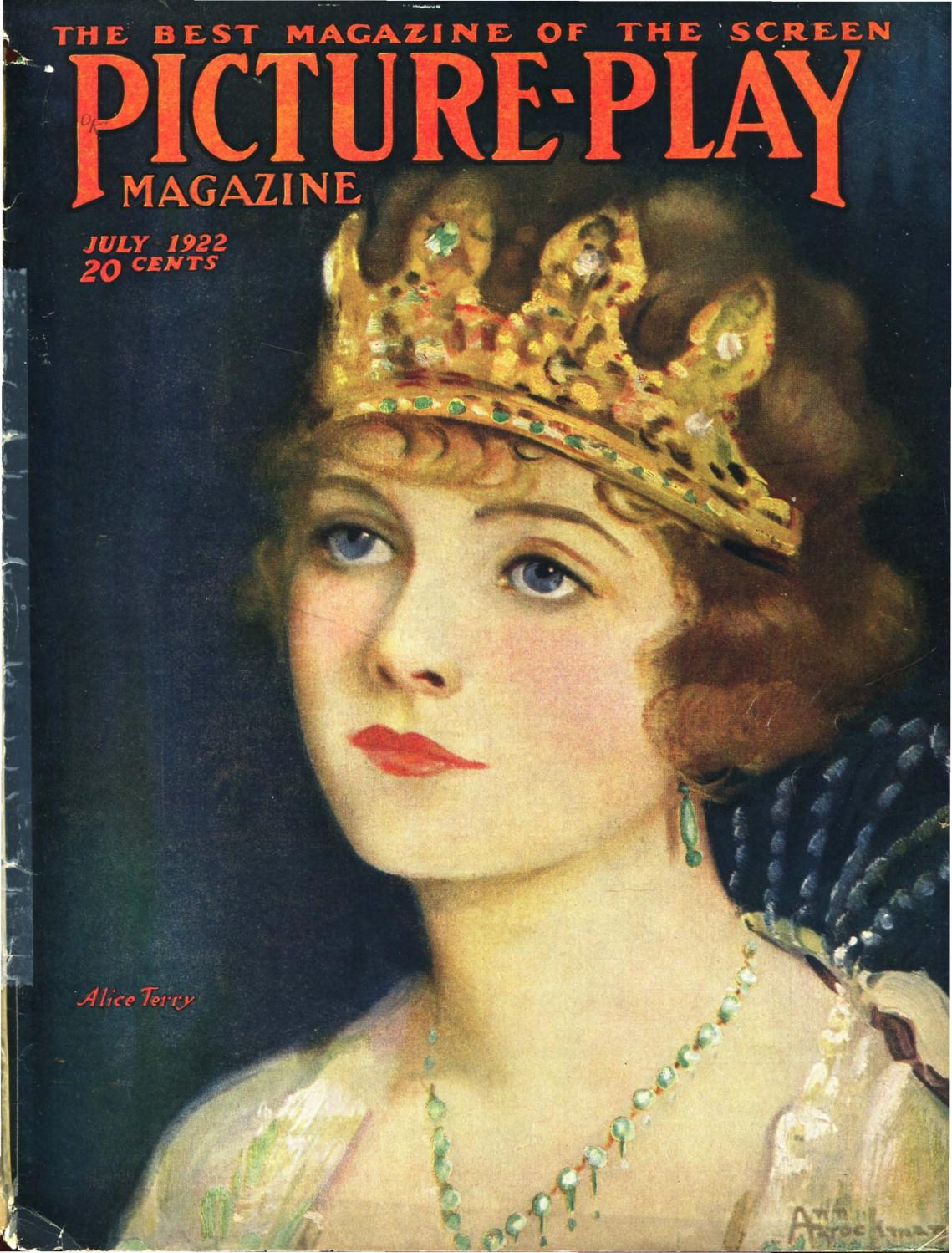 "Silver Screen Actress Theda Bara in /""Queen of Sheba/"" 1921 Celebrity  Print"