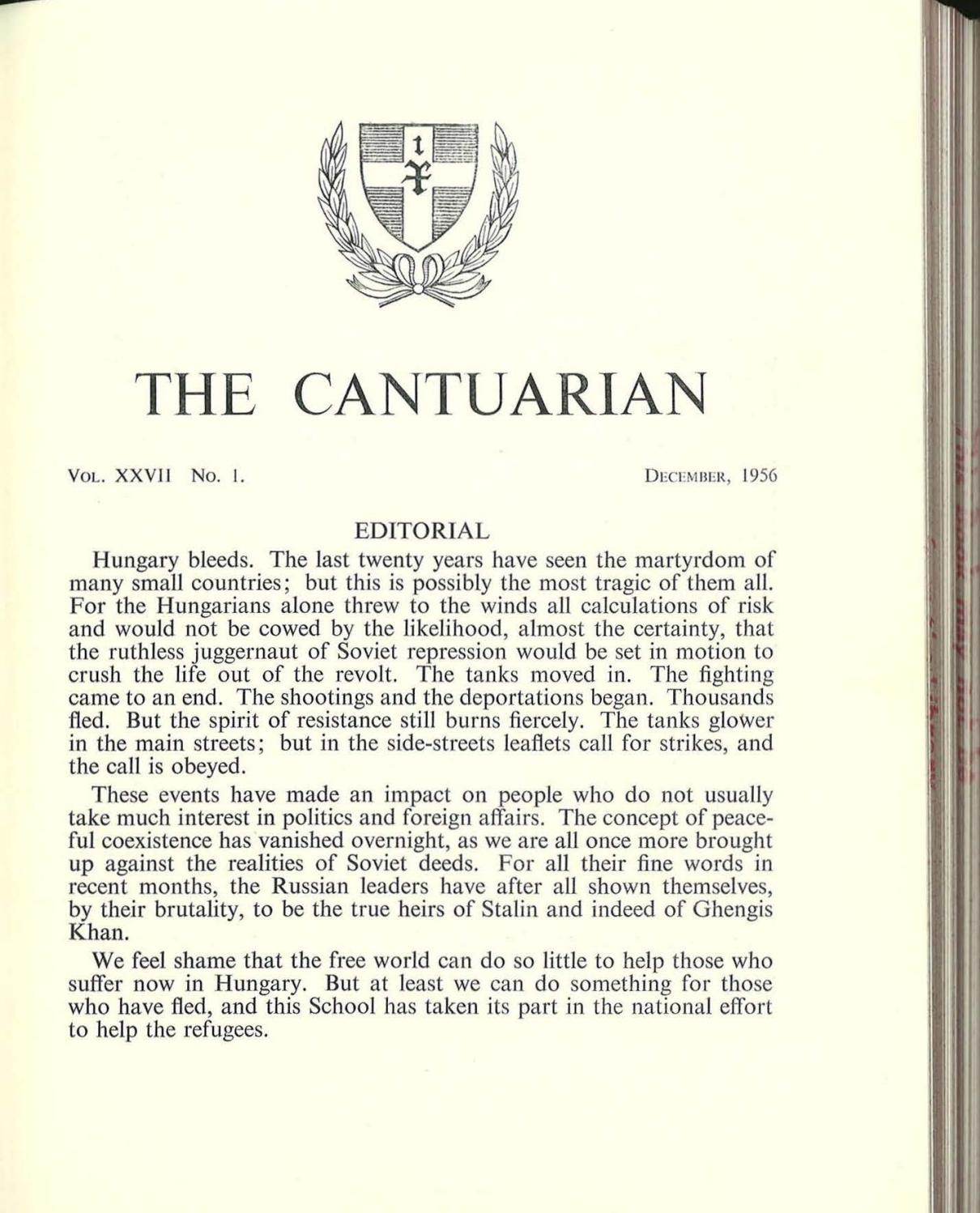 The Cantuarian December 1956 April 1958 By Oks Association Issuu