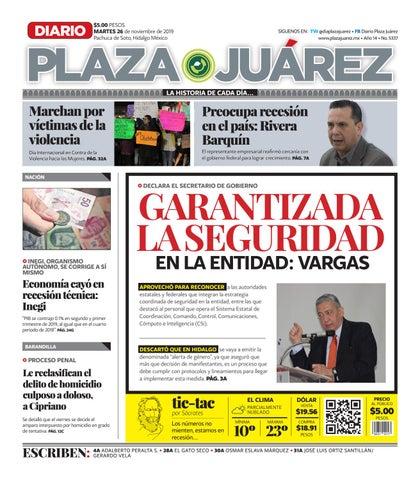 26 11 19 by Diario Plaza Juárez issuu