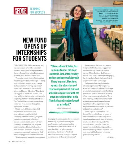 Page 18 of NEW FUND OPENS UP INTERNSHIPS FOR STUDENTS