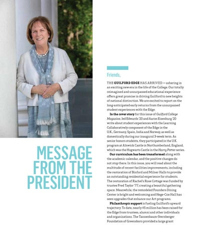 Page 2 of MESSAGE FROM THE PRESIDENT