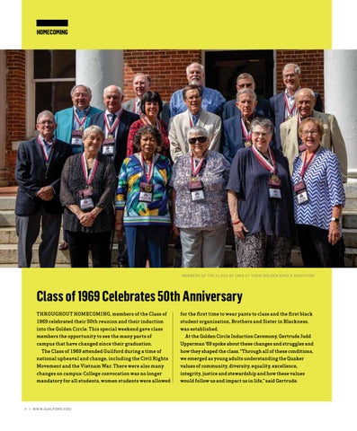 Page 6 of CLASS OF 1969 CELEBRATES 50TH ANNIVERSARY