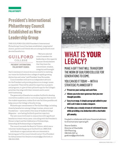 Page 9 of PRESIDENT'S INTERNATIONAL PHILANTHROPY COUNCIL ESTABLISHED AS NEW LEADERSHIP GROUP