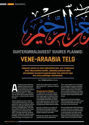 Page 30 of Suhtekorraldusest suures plaanis: Vene-Araabia telg
