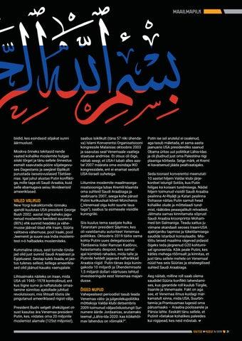 Page 31 of Suhtekorraldusest suures plaanis: Vene-Araabia telg