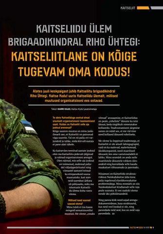 Page 9 of Kaitseliidu ülem brigaadikindral Riho Ühtegi: kaitseliitlane on kõige tugevam oma kodus!