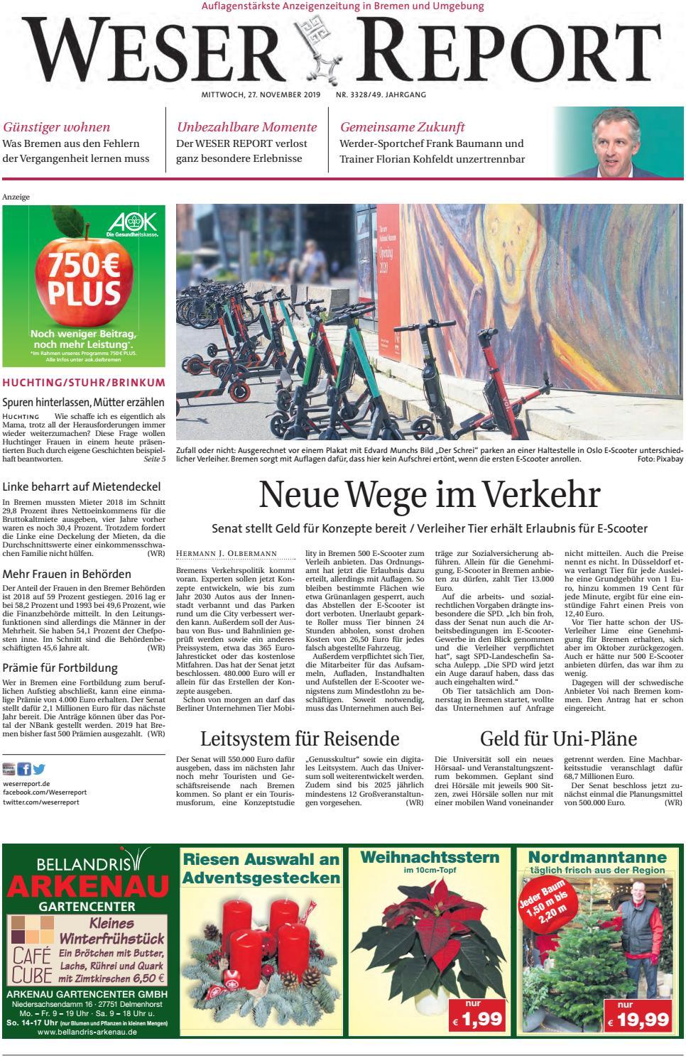 Weser Report Huchting Stuhr Brinkum vom 27.11.2019 by KPS