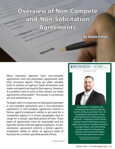 Page 15 of Overview of Non-Compete and Non-Solicitation Agreements