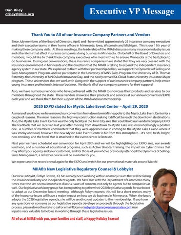 Page 9 of Executive VP Message