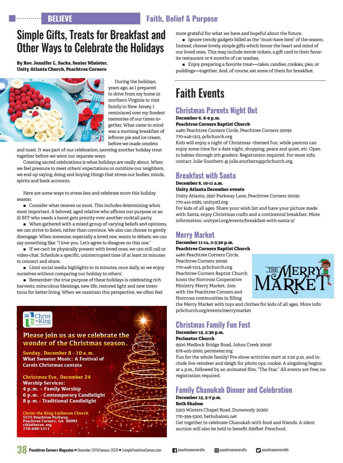 Christmas Craft Show, Dec. 8, 2020 Peachtree Corners Magazine   Dec. 2019/Jan. 2020 by Peachtree
