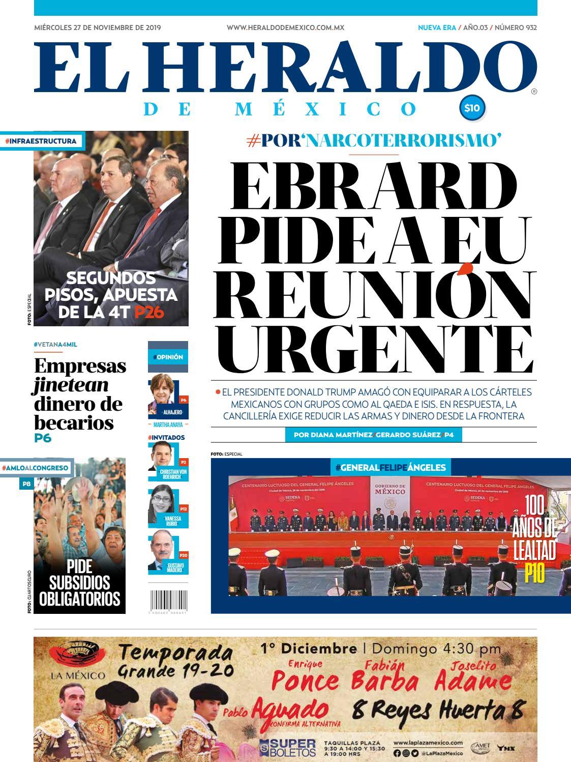 Miércoles 27 De Noviembre De 2019 By El Heraldo De México